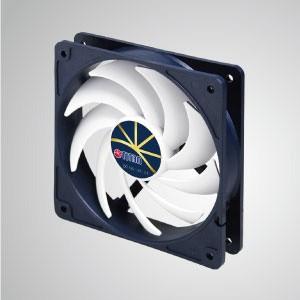 """Ventilador de enfriamiento de 12V DC 0.32A con control de baja velocidad extremadamente silencioso / 120 mm x 20 mm x 25 mm - """"3 características extremas"""": Extremadamente silencioso, extremadamente baja velocidad y extremadamente bajo consumo de energía."""