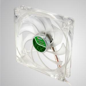 12V DC 140mm kukri Silent Transparent Green Cooling Fan with 9-blades - With transparent green frame and 140mm silent fan with 9-blades, creating great cooling performance