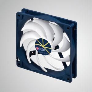 """Ventilador de refrigeración de 12 V CC 0,4 A con control de baja velocidad extremadamente silencioso / 140 mm x 140 mm x 25 mm - """"3 características extremas"""": Extremadamente silencioso, extremadamente baja velocidad y extremadamente bajo consumo de energía."""