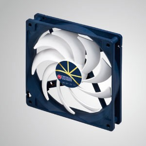 "12V DC 0.4A Cooling Fan with Extreme Silent Low Speed Control / 140mm x 140mm x 25mm - ""3 extreme"" Features: Extreme silent, extreme low speed, and extreme low power consumption."