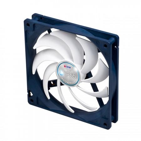Verfügt über einen exklusiven Kukri 9-Blatt-PWM-Lüfter von TITAN, der mit einer intelligenten Geschwindigkeitssteuerung ausgestattet ist und den Luftstrom zentralisieren kann, um die Wärmeableitung zu beschleunigen und einen geräuschärmeren Betrieb zu gewährleisten.
