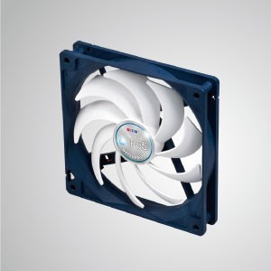 12V DC IP55 Waterproof / Dustproof Case Cooling Fan / 140mm - TITAN- IP55 waterproof &dustproof cooling fan is suitable for humid/dust-exist environment or precise instrument.