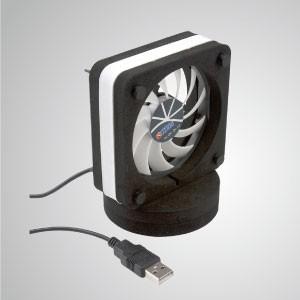 5V/12V DC 80mm Dual Way USB Tragbarer Kühltischlüfter/Laptoplüfter mit EVA Martial Package