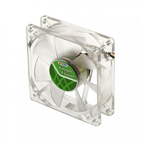 Mit transparentem grünem Rahmen und leisem 80-mm-Lüfter für eine umweltfreundliche und flache Kühlleistung