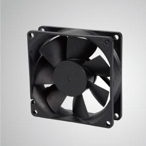 80mm x 80mm x25mmシリーズのDC冷却ファン