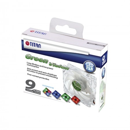 TITAN Transparent Green Cooling fan Package