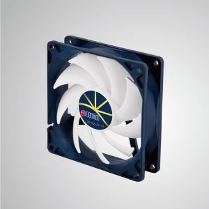 12V DC 直流 極低轉速-靜音散熱風扇 92mm x 92mm x 25mm - 智慧調速散熱風扇,擁有3極表現:極靜、極薄、極省電。