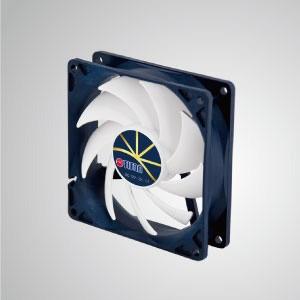 """Ventilador de enfriamiento de 12V DC 0.24A con control de baja velocidad extremadamente silencioso / 92 mm x 92 mm x 25 mm - """"3 características extremas"""": Extremadamente silencioso, extremadamente baja velocidad y extremadamente bajo consumo de energía."""