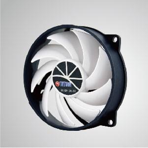 12V DC 直流 Kukri靜音系列- 95mm散熱風扇 (PWM調速功能) - TITAN獨家庫克里彎刀風扇系列,9葉特殊葉面設計,能迅速集中風流,加大風量,提升散熱效果。