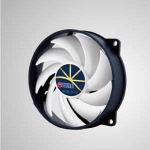 """Ventilador de enfriamiento de 12V DC 0.24A con control de baja velocidad extremadamente silencioso / 95 mm x 95 mm x 25 mm - """"3 características extremas"""": Extremadamente silencioso, extremadamente baja velocidad y extremadamente bajo consumo de energía."""