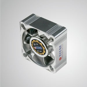 12V DC 60mm Aluminum Frame Cooling Fan with Electro-Plated from EMI / FRI Protection - Made 60mm aluminum frame cooling fan, it has more powerful heat dissipation and robust construction.