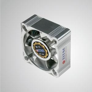EMI / FRI Korumasından Elektro Kaplamalı 12V DC 60mm Alüminyum Çerçeve Soğutma Fanı - 60mm alüminyum çerçeveli soğutma fanından yapılmıştır, daha güçlü ısı dağılımı ve sağlam yapıya sahiptir.