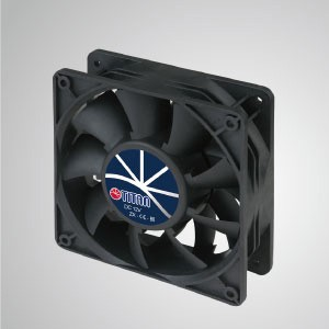 12V DC High Static Pressure Cooling Fan / 120mm - TITAN high static pressure fan has 3 characteristics: High static pressure, high airflow, long letch length.