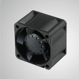 12VDC高静圧冷却ファン/ 40mm - TITAN高静圧ファンには3つの特徴があります:高静圧、高 風量、長いレッチの長さ。
