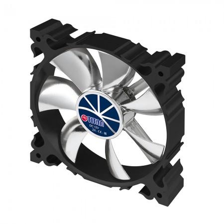 Dieser Lüfter mit hochwertigem schwarzem Aluminiumrahmen und 120 mm leisem 7-Flügel-Lüfter sorgt für eine funkelnde, aber flache Kühlleistung