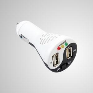 Taichi- 2-in-1 차량용 USB 전원 충전기 및 차량용 배터리 테스터 - 모든 유형의 차량, 오토바이, 자동차, 밴, 트럭 및 요트용 TITAN 4-in-1 배터리 충전기