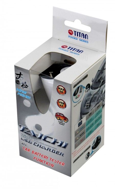Taichi 2-in-1 USB car power charger package