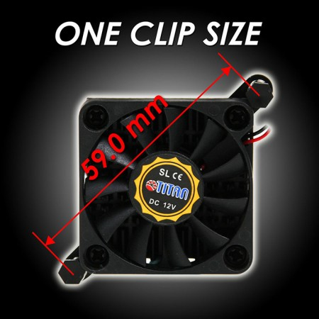 One clip size - 59mm.