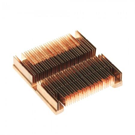 Pure copper soldering fins cooler