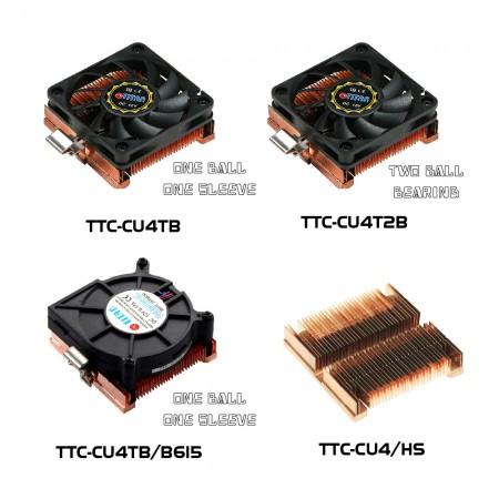 TTC-CU4 Series CPU Cooler Model illustration