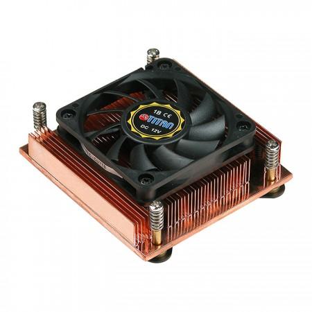 CPU-Luftkühler mit 60 mm quadratischem Rahmenlüfter und Kupferlötkühlrippen