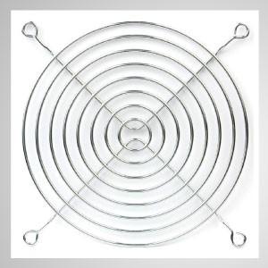 120mm Kühlerlüfter Metall Fingerschutzgitter Schutz - Eingebetteter Magnet zum einfachen Anbringen an jedem Stahlchassis ohne Werkzeug.