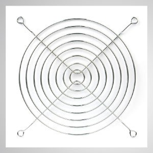 140mm Kühlgebläse Metall Fingerschutzgitter Schutz - Eingebetteter Magnet zum einfachen Anbringen an jedem Stahlchassis ohne Werkzeug.