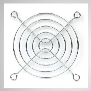 80mm Kühlgebläse Metall Fingerschutzgitter Schutz - Eingebetteter Magnet zum einfachen Anbringen an jedem Stahlchassis ohne Werkzeug.