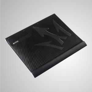 """5V DC 10 """"- 15"""" Enfriador para portátil Almohadilla de aluminio para refrigeración con portátil ultradelgado alimentado por USB - Equipado con un ventilador de 80 mm y una superficie de malla, puede acelerar eficazmente el flujo de aire para transferir calor"""