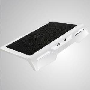 """Almohadilla de enfriamiento portátil para computadora portátil de 12 """"- 17"""" con salida ultradelgada alimentada por USB portátil - Equipado con un ventilador de 200 mm y una superficie de malla, puede acelerar eficazmente el flujo de aire para transferir calor."""