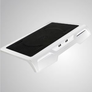 5V DC 直流10-17吋筆記型電腦散熱墊 附USB孔 - 搭載20公分強力靜音風扇與沖孔網透氣設計,提供強效氣流導向,散熱效果一流。整體設計符合人體工學,舒適又順手,方便長時間使用。