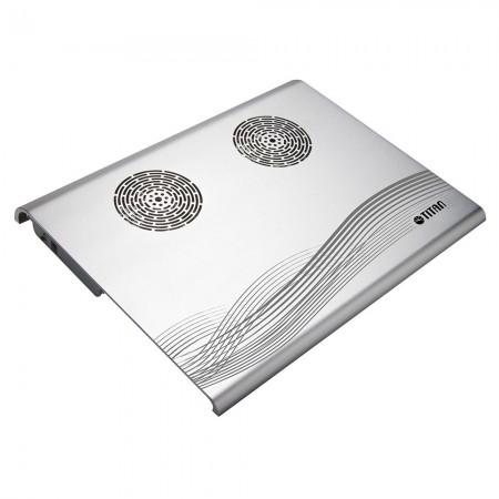 ein TTC-G3T/SB Laptop-Kühler mit silberner mentaler Abdeckung