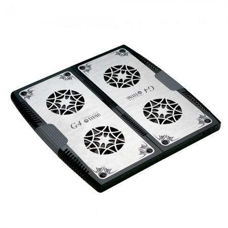 """Ein Laptop-Kühlpad, das durch das spezielle Design des ausziehbaren Mechanismus an jeden Laptop passt. Es kann die Größe des Kühlpads von 12"""" auf 17"""" erweitern und passt in die meisten 12""""-17"""" Laptops."""
