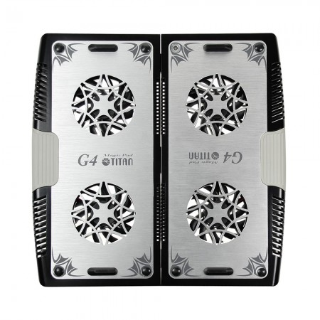 Equipped with four 70mm fan and aluminum surface, it can effectively accelerate airflow to dissipate heat