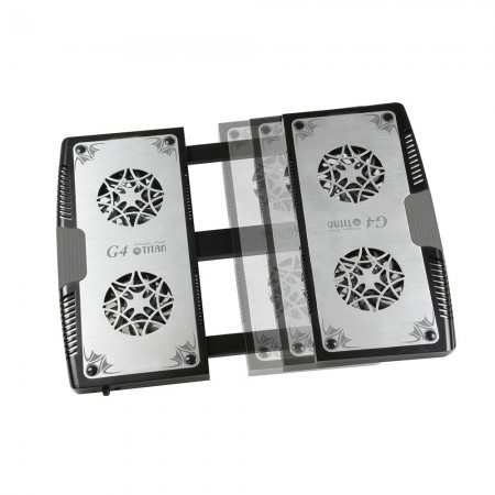 """Special design of extendable mechanism. It can extend the size of cooling pad from 12""""to 17"""""""