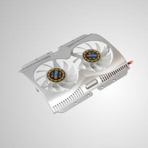 """12V DC 3.5"""" HDD Cooler with 60mm Dual Cooling Fan (Silver) - Built-in Dual 60mm silent fans, the HDD cooler can effectively reduce the temperature of hard disk. Maintain system stability and reliability and enhance operation efficiency."""