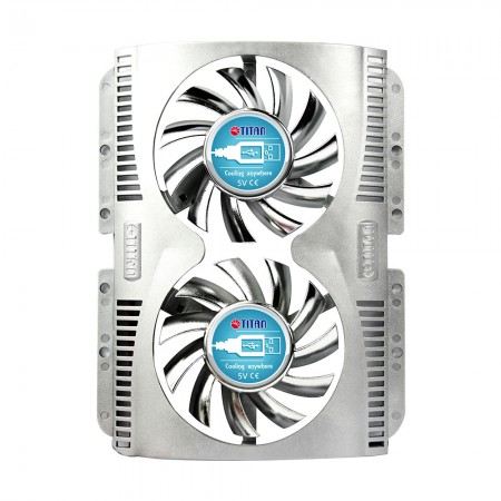 Feature built-in dual 60mm fan and 3M powerful tape, it can post it on various devices everywhere to resolve overheating problem.