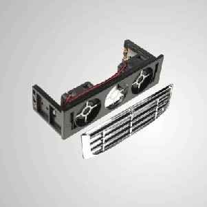 """12V DC 5.25"""" HDD Mounting Cooling Kit Cooler with Dual 40mm Cooling Fan - Built-in dual 40mm silent cooling fans, it can effectively reduce the temperature of hard disk. EMI protector and filter included, maintain system stability and reliability and enhance operation efficiency"""