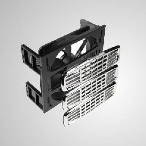 """12V DC 3 * 5,25"""" HDD-Montage-Kühlkit-Kühler mit 120-mm-Lüfter mit Z-AXIS-Lager - Eingebaute 120-mm-Lüfter mit leiser Kühlung, beide mit 2-in-1-Funktion, Systemkühlung und HDD-Kühlung. Es kann die Temperatur der Festplatte effektiv reduzieren. Darüber hinaus, einschließlich EMI-Schutz und -Filter, sorgen Sie für die Systemstabilität und -zuverlässigkeit und verbessern die Betriebseffizienz"""