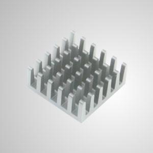 Kühlrippen aus Aluminium mit Klebstoff - 20 mm x 20 mm Packung mit 8 Stück - Eingebetteter Magnet zum einfachen Anbringen an jedem Stahlchassis ohne Werkzeug.