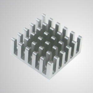 Kühlrippen aus Aluminium mit Klebstoff - 30 mm x 30 mm Packung mit 6 Stück