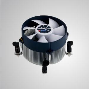 Intel LGA1366-アルミニウム冷却フィン付きCPUエアクーラー/ TDP 130W /プッシュピンクリップ - Intel LGA 1366-ラジアルアルミニウム冷却フィン、30mm純銅ベース、90mm巨大サイレントファンを装備。