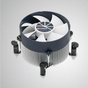 Enfriador de aire de CPU Intel LGA 1155/1156/1200 con aletas de enfriamiento de aluminio - Equipado con aletas de enfriamiento de aluminio radiales y ventilador silencioso, este enfriador de CPU puede centralizar el flujo de aire y mejorar efectivamente la disipación térmica
