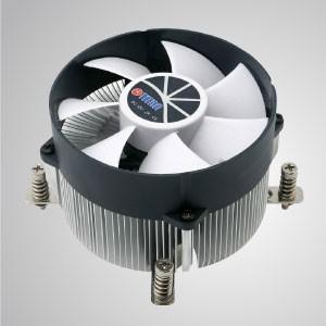 Intel LGA 2011/2066 - Enfriador de aire de CPU con aletas de enfriamiento de aluminio / TDP 130W - Intel LGA 2011: equipado con aletas de enfriamiento de aluminio radiales, base de cobre puro de 30 mm y ventilador silencioso gigante de 90 mm.