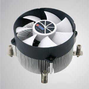 Intel LGA 2011/2066 - CPU-Luftkühler mit Aluminium-Kühlrippen / TDP 130W - Intel LGA 2011- Ausgestattet mit radialen Aluminium-Kühlrippen, 30 mm reinem Kupfersockel und 90 mm riesigem leisem Lüfter.