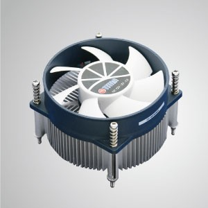Intel LGA 1155/1156 / 1200-アルミニウム冷却フィン付きロープロファイルデザインCPUエアクーラー/ TDP 95W