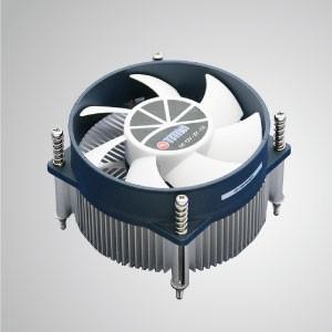 Intel LGA 1155/1156 - низкопрофильный воздушный охладитель процессора с алюминиевых ребер ребрами алюминиевых ребер / TDP 95 Вт - Охладитель воздушного охлаждения процессора с алюминиевыми паяльными ребрами и 90-мм вентиляторы