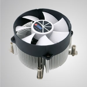 Intel LGA 2011/2066 - CPU-Luftkühler mit Aluminium-Kühlrippen und 35mm Kupferbasis / TDP 130W - Ausgestattet mit radialen Aluminium-Kühlrippen, 35 mm reinem Kupfersockel und 90 mm ultraleisem Lüfter.