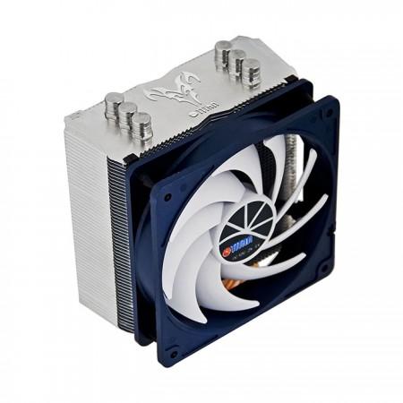 Mit 3 optimierten U-förmigen Kupfer-Direktkontakt-Heatpipes zur Verbesserung des Luftstroms und des Kühlkörpers.