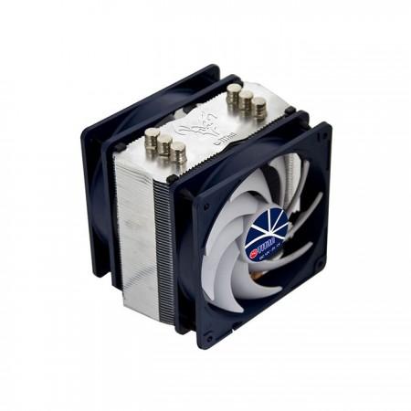 Enthalten Sie 4 Silikonstäbe, um Vibrationen zu reduzieren, um ein oder zwei Kühllüfter auszurüsten.